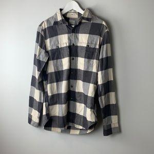 J. Crew Button Down Shirt in Grey Buffalo Plaid